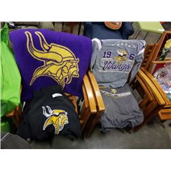 MINNESOTA VIKINGS NFL TSHIRTS, PULL OVER AND BLANKET