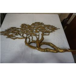 BRASS MCM TREE WALL HANGING