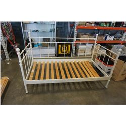 WHITE METAL DAY BED FRAME AND BALCK METAL DAY BED FRAME