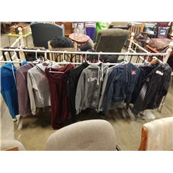 LOT OF HOODIES AND JACKETS SIZE MEDIUM TO XL