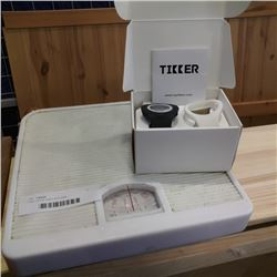 Tikker timing watch and scale
