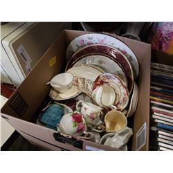 LARGE LOT OF ANTIQUE CHINA CUPS AND PLATES