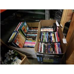 2 BOXES OF DVDS, KIDS AND OTHER