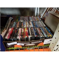 Large tray of DVDs