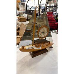 VINTAGE SNIDER ELECTRIC BOAT CLOCK