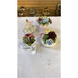 LOT OF CHINA FLORALS