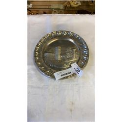2 PEWTER PLATES