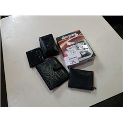 Walkman, guess wallets and camera battery charger