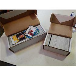 2 BOXES OF SPORTS CARDS - BASEBALL, HOCKEY, BASKETBALL