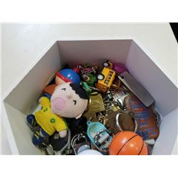 TRAY OF COLLECTIBLE KEY CHAINS