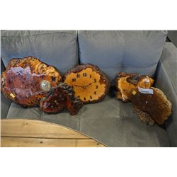 5 BURL CLOCKS