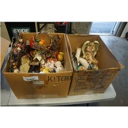 2 BOXES OF ESTATE COLLECTABLES
