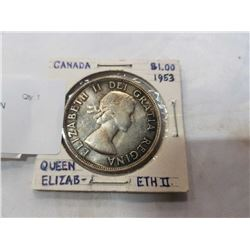 1953 CANADA SILVER DOLLAR QUEEN ELIZABETH II