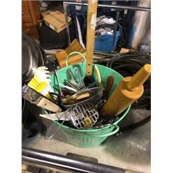 Pail of kitchen tools