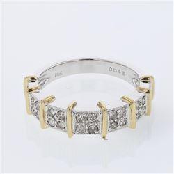 Natural 0.45 CTW Diamond Ring W=5MM 14K Gold - REF-54R9K