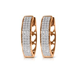 Genuine 0.45 ctw Diamond Anniversary Earrings 10KT Rose Gold - REF-116M2T