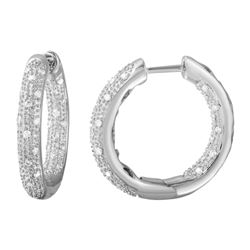 Natural 0.46 CTW Diamond Earrings 14K White Gold - REF-91H8W