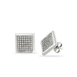 Natural 0.33 CTW Diamond Earrings 14K White Gold - REF-56H7W