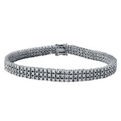 Natural 3.86 CTW Diamond Bracelet 18K White Gold - REF-503M3F