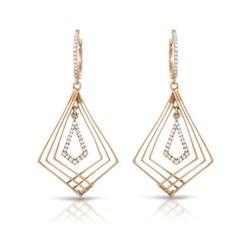 Natural 0.29 CTW Diamond Earrings 14K Rose Gold - REF-67H5W