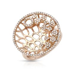 Natural 0.52 CTW Diamond Ring 14K Rose Gold - REF-68X4T