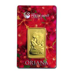 Genuine 1 oz 0.9999 Fine Gold Bar - Perth Mint Oriana