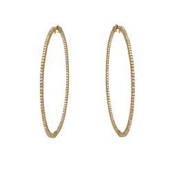 Natural 1.46 CTW Diamond Earrings 14K Yellow Gold - REF-168R3K