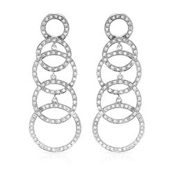 Natural 0.94 CTW Diamond Earrings 14K White Gold - REF-126H2W