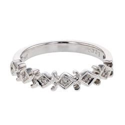 Natural 0.03 CTW Diamond Band Ring 14K White Gold - REF-28R8K