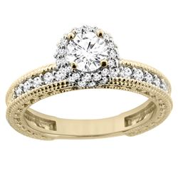0.75 CTW Diamond Ring 14K Yellow Gold - REF-120K4W