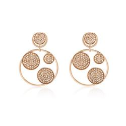 Natural 1.09 CTW Diamond Earrings 14K Rose Gold - REF-93Y6N