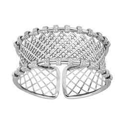 Natural 2.59 CTW Diamond Bangle 18K White Gold - REF-640H8W