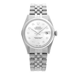 Rolex Pre-owned 36mm Mens White MOP Stainless Steel