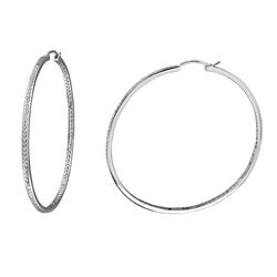 Natural 1.98 CTW Diamond Earrings 14K White Gold - REF-210R6K