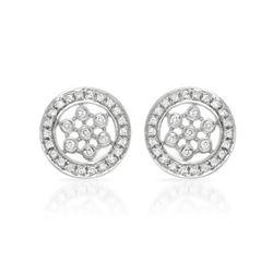 Natural 0.25 CTW Diamond Earrings 14K White Gold - REF-49R5K