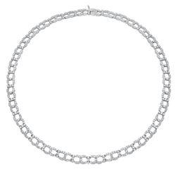 Natural 10.21 CTW Diamond Necklace 18K White Gold - REF-822X6T