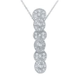 Natural 0.57 CTW Diamond Necklace 14K White Gold - REF-72R2K