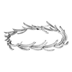 Natural 3.01 CTW Diamond Bracelet 14K White Gold - REF-250Y2N