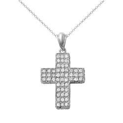 Natural 2.40 CTW Diamond Necklace 14K White Gold - REF-201R6K