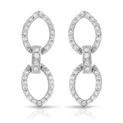 Natural 0.49 CTW Diamond Earrings 18K White Gold - REF-83X7T