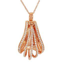Natural 0.43 CTW Diamond Necklace 18K/14K Rose Gold - REF-132H3W