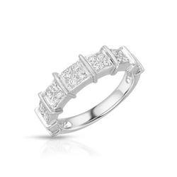 Natural 0.45 CTW Diamond Ring Platinum - REF-137R7K