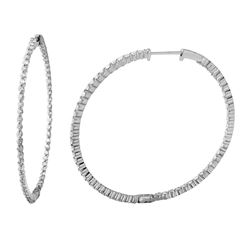 Natural 2.44 CTW Diamond Earrings 14K White Gold - REF-198Y9N