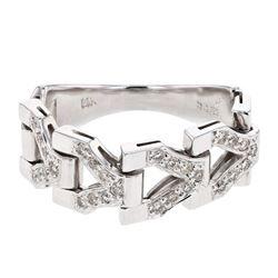 Natural 0.27 CTW Diamond Ring 14K White Gold - REF-59M4F