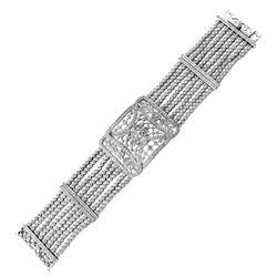 Natural 3.34 CTW Diamond & Bracelet 18K White Gold - REF-747X2T