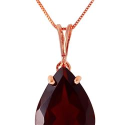 Genuine 5 ctw Garnet Necklace 14KT Rose Gold - REF-33Z2N