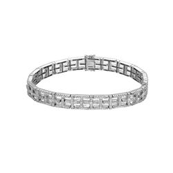 Natural 2.07 CTW Diamond & Bracelet 18K White Gold - REF-398R7K
