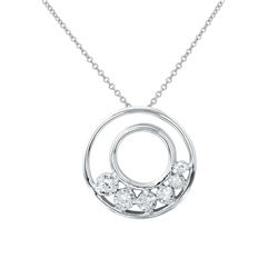 Natural 0.15 CTW Diamond Necklace 14K White Gold - REF-33M3F