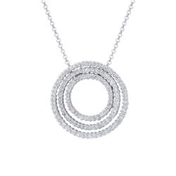 Natural 1.02 CTW Diamond Necklace 14K White Gold - REF-116Y3N