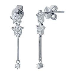 Natural 0.28 CTW Diamond Earrings 14K White Gold - REF-33M3F